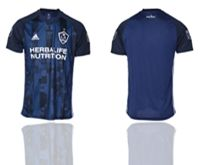 Mens 19-20 Soccer Los Angeles Galaxy Club Blank Blue Away Short Sleeve Thailand Jersey