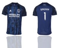 Mens 19-20 Soccer Galaxy Club #1 Bingham Blue Away Short Sleeve Thailand Jersey
