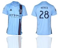 Mens 19-20 Soccer New York Fc Club #28 Alexandru Mitrita Blue Home Short Sleeve Thailand Jersey