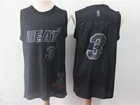 Mens Nba Miami Heat #3 Dwyane Wade Black 2019 New Mvp Honorary Edition Jersey