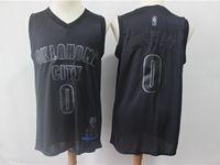 Mens Nba Oklahoma City Thunder #0 Russell Westbrook Black 2019 New Black Mvp Honorary Edition Jersey