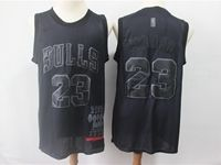 Mens Nba Chicago Bulls #23 Michael Jordan Black 2019 New Black Mvp Honorary Edition Jersey