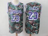 Mens Nba Los Angeles Lakers #23 Lebron James Camo Hardwood Classics Mitchell&ness Jersey