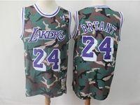 Mens Nba Los Angeles Lakers #24 Kobe Bryant Camo Hardwood Classics Mitchell&ness Jersey