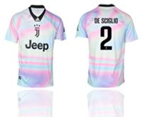 Mens 19-20 Soccer Juventus Club #2 De Sciglio White Special Edition Short Sleeve Jersey