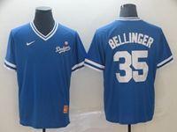 Mens Mlb Los Angeles Dodgers #35 Cody Bellinger Blue Cooperstown Collection Legend V Neck Cool Base Nike Jersey