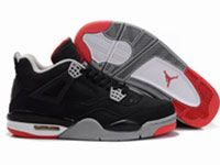 Men Butler Basketball 4 Jordan Shoes Color Black With Black Red