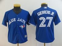 Youth Mlb Toronto Blue Jays #27 Guerrero Jr. Blue Cool Base Jersey