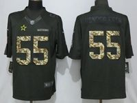 Mens Dallas Cowboys #55 Leighton Vander Esch Black Anthracite Salute To Service Limited Jersey
