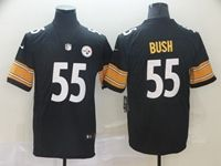 Mens Nfl Pittsburgh Steelers #55 Devin Bush Black Vapor Untouchable Limited Player Jersey