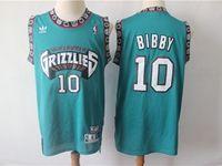 Mens Nba Vancouver Grizzlies #10 Bibby Green Hardwood Classics Jersey