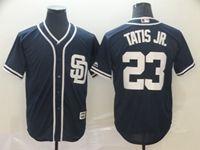 Mens Majestic San Diego Padres #23 Fernando Tatis Jr Blue Cool Base Player Jersey
