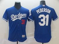 Mens Majestic Mlb Los Angeles Dodgers #31 Joc Pederson Blue Flex Base Jersey