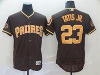 Mens Majestic San Diego Padres #23 Fernando Tatis Jr Brown Flex Base Jersey