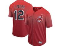 Mens Mlb Cleveland Indians #12 Francisco Lindor Red Nike Drift Cool Base Jersey