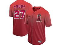 Mens Mlb Los Angeles Angels #27 Mike Trout Red Nike Drift Cool Base Jersey