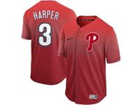 Mens Mlb Philadephia Phillies #3 Bryce Harper Red Nike Drift Cool Base Jersey