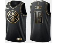 Mens Nba Denver Nuggets #15 Nikola Jokic Black Golden Edition Swingman Jersey