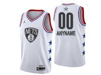 Mens Nba Brooklyn Nets Custom Made 2019 All Star Nike White Jersey