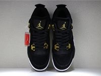 Mens And Women Air Jordan 4 Butler Aj4 Basketball Black Gold Shoes 1 Colour