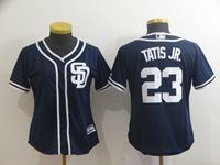 Women Majestic San Diego Padres #23 Fernando Tatis Jr Blue Cool Base Player Jersey