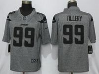 Mens 2019 Nike Los Angeles Chargers #99 Jerry Tillery Gray Stitched Gridiron Limited Jersey