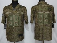 Mens 2019 Nike Los Angeles Chargers #99 Jerry Tillery Camo Salute To Service Limited Jersey