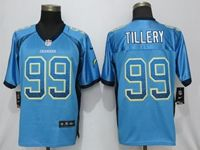Mens 2019 Nike Los Angeles Chargers #99 Jerry Tillery Blue Drift Fashion Elite Jersey