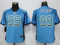 Women 2019 Nike Los Angeles Chargers #99 Jerry Tillery Blue Drift Fashion Elite Jersey