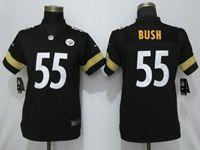 Women Nfl Pittsburgh Steelers #55 Devin Bush Black Vapor Untouchable Elite Jersey