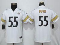 Women Nfl Pittsburgh Steelers #55 Devin Bush White Vapor Untouchable Elite Jersey
