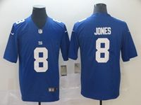 Mens Nfl New York Giants #8 Daniel Jones Blue Vapor Untouchable Limited Player Jersey