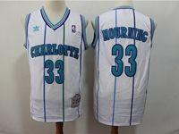 Mens Charlotte Hornets #33 Alonzo Mourning White Mitchell&ness 1992-93 Hardwood Classics Swingman Jersey