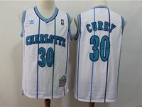 Mens Nba Charlotte Hornets #30 Dell Curry White Mitchell&ness 1992-93 Hardwood Classics Swingman Jersey
