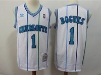 Mens Nba Charlotte Hornets #1 Muggsy Bogues Green Mitchell&ness 1992-93 Hardwood Classics Swingman Jersey