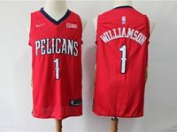 Mens New Orleans Hornets #1 Williamson Red Cool Base Jersey