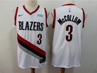 Mens Nba Portland Trail Blazers #3 C.j. Mccollum White 2018 City Edition Cool Base Jersey