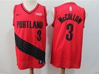 Mens Nba Portland Trail Blazers #3 C.j. Mccollum Red 2018 City Edition Cool Base Jersey