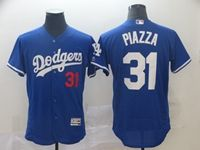 Mens Mlb Los Angeles Dodgers #31 Mike Piazza Blue Flex Base Jersey