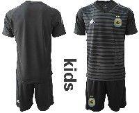 Youth Soccer 19-20 Argentina National Team Custom Made Black Goalkeeper Short Sleeve Suit Jersey