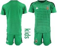 Youth Soccer 19-20 Argentina National Team Custom Made Green Goalkeeper Short Sleeve Suit Jersey