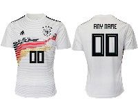 Mens 19-20 Soccer Germany Ntaional Team ( Custom Made ) Adidas White Home Short Sleeve Jersey