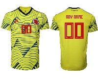 Mens 19-20 Soccer Colombia National Team ( Custom Made ) Adidas Yellow Home Jersey