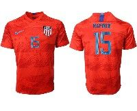Mens 19-20 Soccer Usa National Team #15 Megan Rapinoe Nike Red Away Short Sleeve Jersey