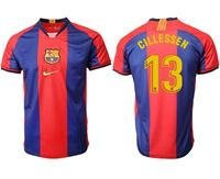 Mens 19-20 Soccer Barcelona Club #13 Jasper Cillessen Red And Blue Stripe Home Thailand Jersey