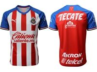 Mens 19-20 Soccer Deportivo Guadalajara Club ( Custom Made ) Red Thailand Jersey