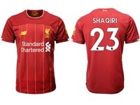 Mens 19-20 Soccer Liverpool Club #23 Xherdan Shaqiri Red Home Jersey
