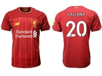 Mens 19-20 Soccer Liverpool Club #20 Adam Lallana Red Home Jersey