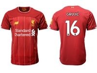 Mens 19-20 Soccer Liverpool Club #16 Marko Grujic Red Home Jersey