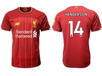 Mens 19-20 Soccer Liverpool Club #14 Jordan Henderson Red Home Jersey